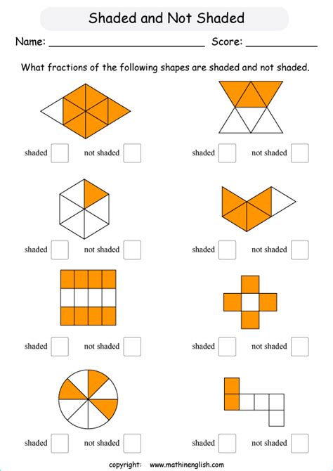 fraction   shapes  shaded   fraction