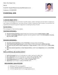 Free Resume Search In India by Resume For Teachers In Indian Format Search