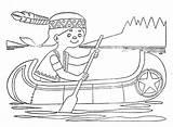 Canoe Coloring Boat Getcolorings Printable sketch template