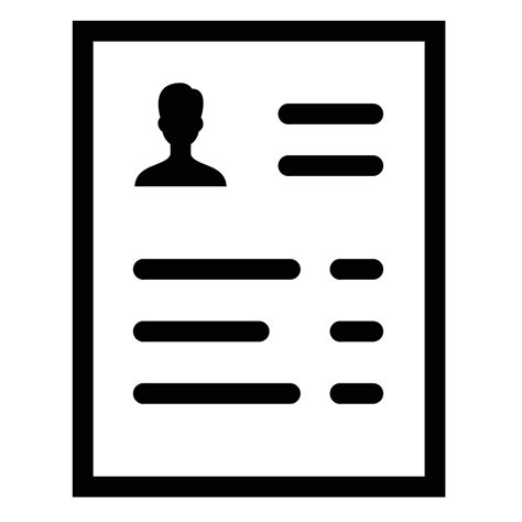 14191 resume icon transparent resume icon free png and svg