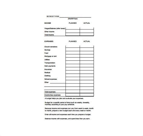 Budgeting Sheets Template 11 Budget Sheet Templates Free Sle Exle Format