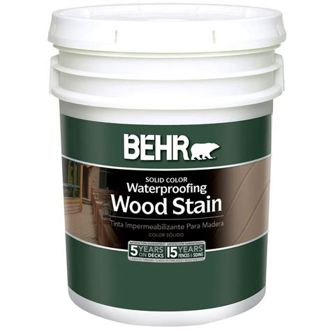 behr  gal white solid color waterproofing wood stain