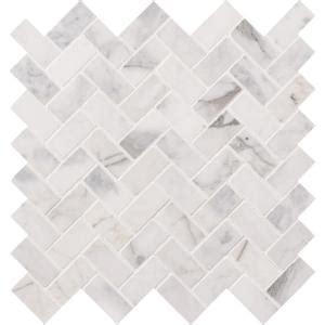 Herringbone Backsplash Tile Home Depot by Ms International Calacatta Cressa Herringbone 12 In X 12