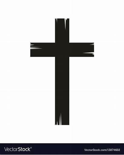 Cross Vector Christian Icon Royalty Vectors Vectorstock