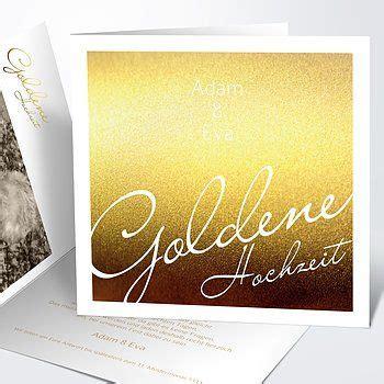 einladungskarten goldene hochzeit edel und individuell