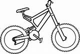 Coloring Bicycle sketch template
