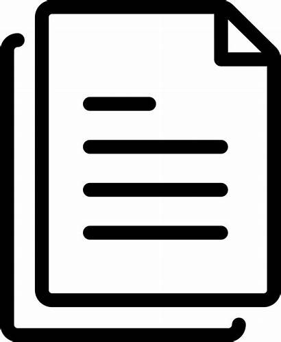 Icon Copy Paper Document Archive Word Svg