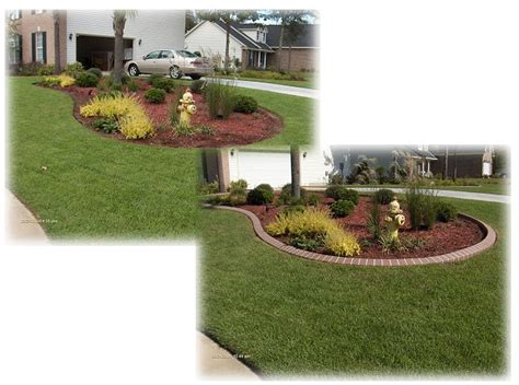 before and after landscaping pictures southern landscape curbing and resurfacing