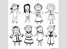 Multicultural Colouring Pages Inofations for Your Design
