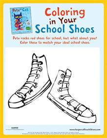 pete the cat school shoes pete the cat rocking in my school shoes coloring pete