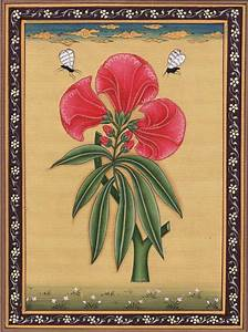 Indian Floral Flower Miniature Painting Moghul Mughal