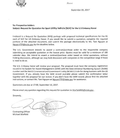 bizops suv invitation letter  embassy
