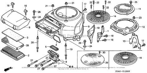 Honda Engines Gxv Eea Engine Jpn Vin Gjarm