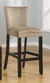 "bar stools with backs Amazon.com - Set of 2 29""H Bar Stools Taupe Microfiber ..."