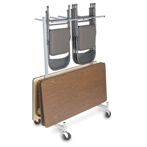 value brand folding chair and table storage cart 500 lb