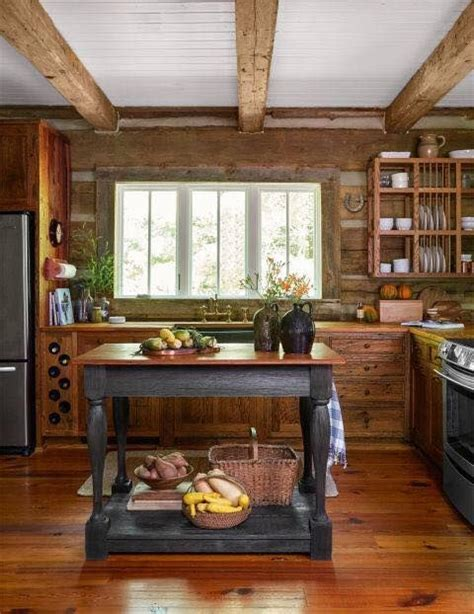 sweet rustic cabin kitchen    lot  modern touches   beautiful rustic