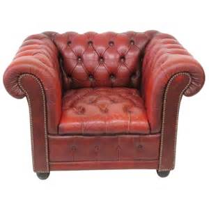 red leather tufted chesterfield lounge chair at 1stdibs