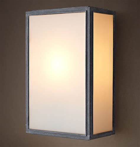loft light box wall sconce rustic wall sconces new orleans by phx lighting