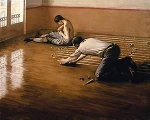 les raboteurs de parquet peinture huile sur toile de With les cireurs de parquet