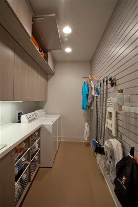 laundry room with slatwall modern laundry room new