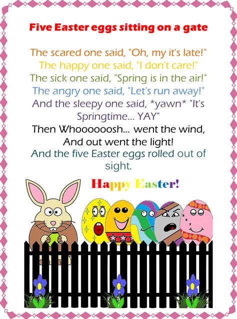 esl efl preschool teachers easter 2013 212 | carissa fingerplay color