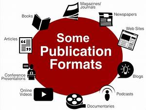 Publication Formats And The Information Lifecycle