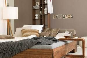 Farben Für Wände : w nde in warmen braunt nen sorgen f r gem tlichkeit bild 15 living at home ~ Sanjose-hotels-ca.com Haus und Dekorationen