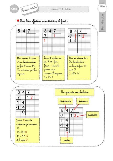 bureau tableau 2 en 1 cm1 trace ecrite la technique opératoire de la division à