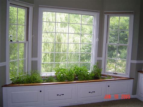 Indoor Window Garden by Window Seat Turned Indoor Herb Garden Planties