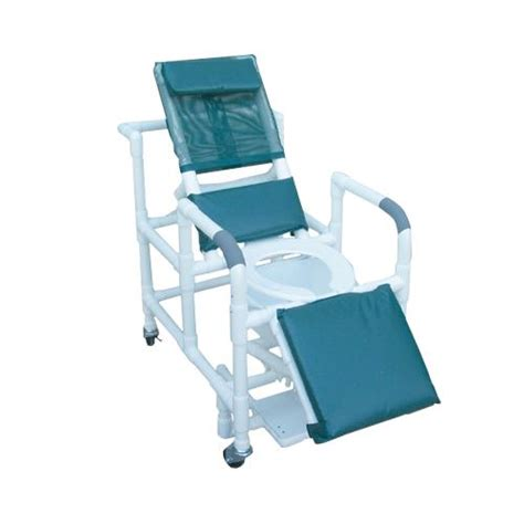 mjm international reclining shower chair with deluxe