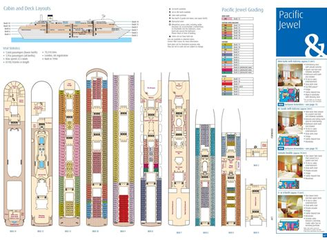 gem deck plan 5 pacific cruise ship deck plan
