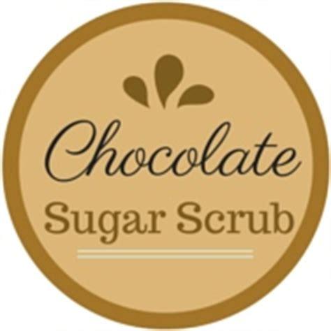 chocolate sugar scrub  printable label odds evans