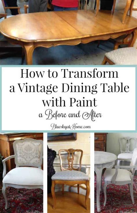 transform  vintage dining table  paint