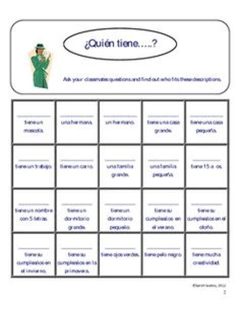 interpersonal activities spanish classroom