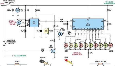 Automatic Headlight Reminder Circuit Diagram