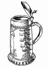Beer Coloring Jug Bottle Drawing Pages Drawings Bierkrug Printable Getcolorings Clip Line Getdrawings Mugs sketch template
