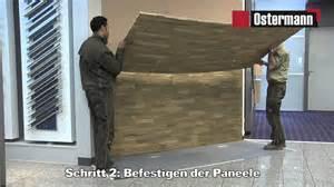 wohnzimmer fernsehwand ostermann gfk steinpaneele verarbeitungsvideo