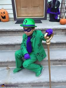 riddler boys halloween costume