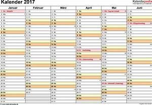 Kalender Juni 2017 Zum Ausdrucken : kalender 2017 zum ausdrucken in excel 16 vorlagen kostenlos ~ Whattoseeinmadrid.com Haus und Dekorationen