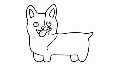 Corgi Coloring Welsh Easy Drawing Dog Step