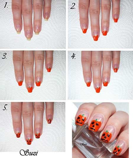 easy halloween nail art tutorials  step  step