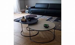 Table Basse Ronde Gigogne : table basse ronde design naos tables basses gigognes ~ Teatrodelosmanantiales.com Idées de Décoration