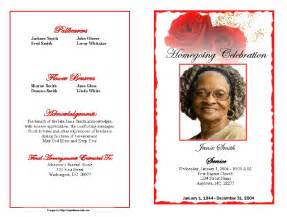 bi fold wedding program template free templates for obituaries search results calendar 2015