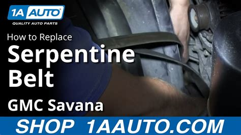 install replace engine serpentine belt chevy