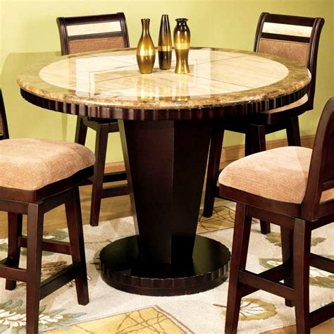 round bar height table and chairs pub set table small high top round kitchen with storage