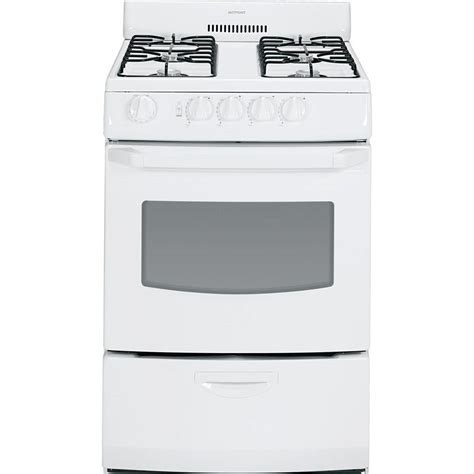 kitchen faucets clearance hotpoint 24 in 3 0 cu ft gas range in white rga824dedww