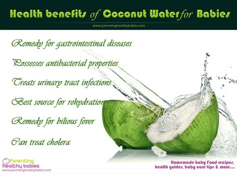 Health Benefits Of Coconut Water For Babies