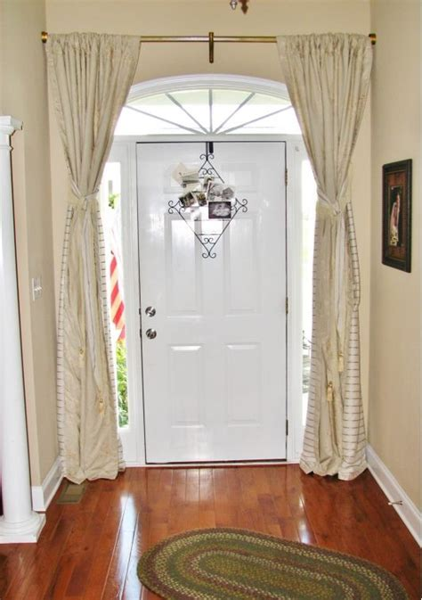front door sidelight curtain rods 10 ideas about front door curtains on