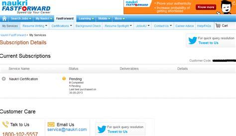 naukri resume service review