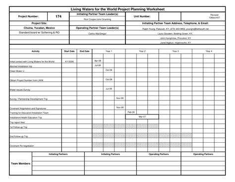 6 Best Images Of Project Planning Sheet Printable  Free Printable Home Project Planner, Free